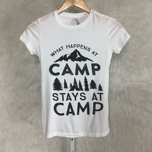 What Happens At Camp Stays In Camp Graphic Tee